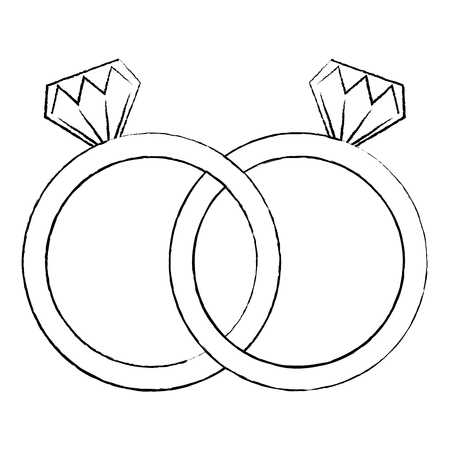 diamond engagement rings icon image vector illustration design  black sk