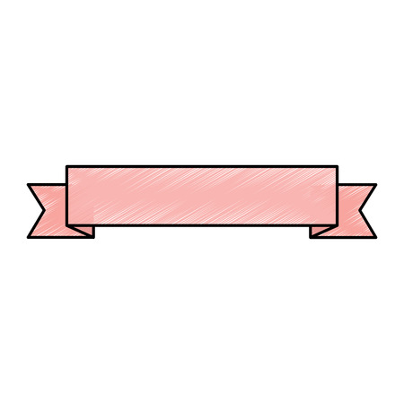 ribbon banner icon image vector illustration design