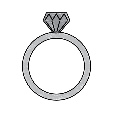 diamond engagement ring icon image vector illustration design