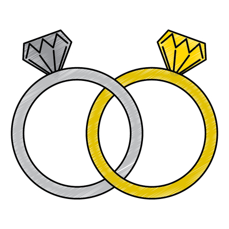 diamond engagement rings icon image vector illustration design