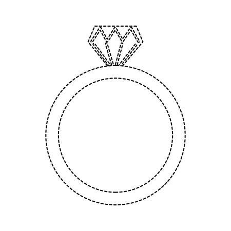 A wedding ring icon diamond ring jewelry vector illustration sticker design 版權商用圖片 - 93473349