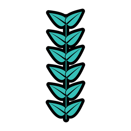 branch leaves stem bloom image vector illustration   向量圖像
