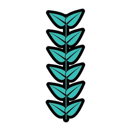 branch leaves stem bloom image vector illustration   Illustration