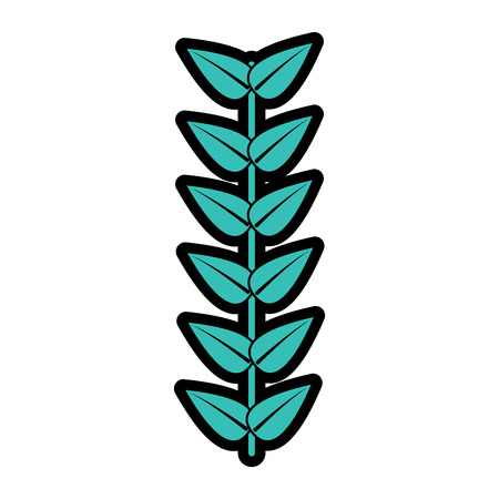 A branch leaves stem bloom image vector illustration