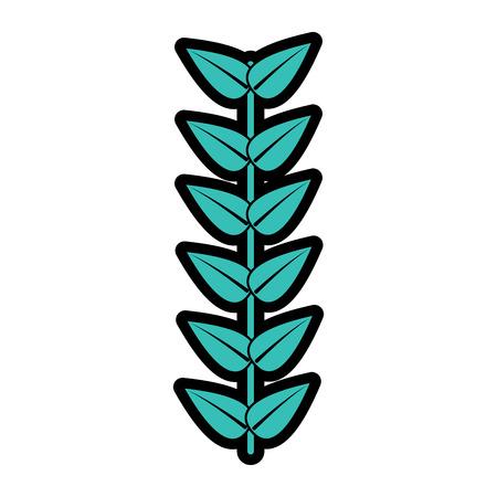 A branch leaves stem bloom image vector illustration