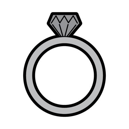 Wedding ring icon Ilustração