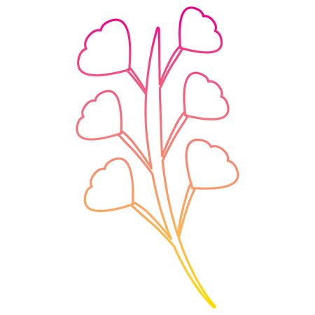 branch leaves stem bloom image vector illustration   line color Фото со стока - 93432723