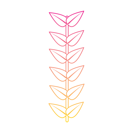 branch leaves stem bloom image vector illustration   line color