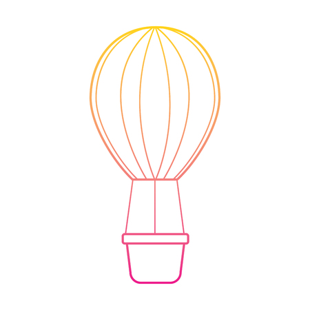 Air balloon romantic decoration image vector illustration line color Ilustrace