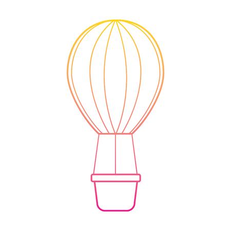 Linea colore romantico dell'illustrazione di vettore di immagine della decorazione dell'aerostato Archivio Fotografico - 93474542