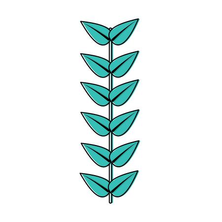 ステムアイコン画像付きの葉。●ベクトルイラストデザイン。