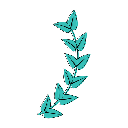 Leaves with stem icon image. Vector illustration design.