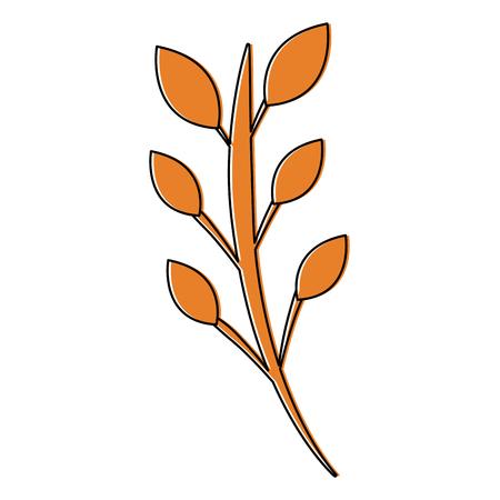 ●ステムアイコン画像ベクトルイラストデザインの葉。  イラスト・ベクター素材