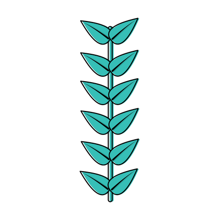 Leaves with stem icon image vector illustration design.