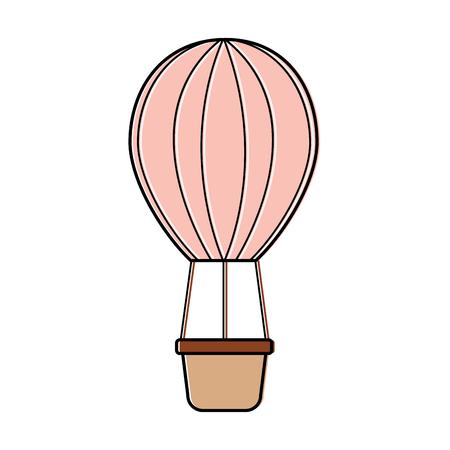 ●熱気球アイコン画像ベクトルイラストデザイン。  イラスト・ベクター素材
