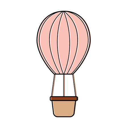 Hot air balloon icon image vector illustration design.