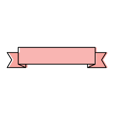 Ribbon banner icon image vector illustration design. Illustration