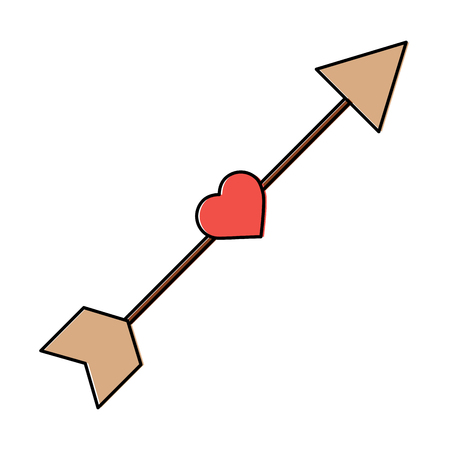 heart and arrow valentines day icon image vector illustration design