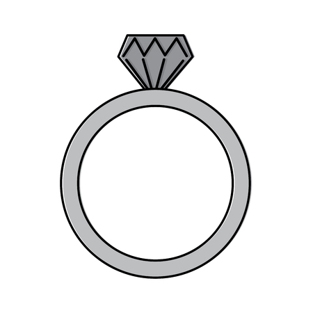diamond engagement ring icon image vector illustration design Illusztráció