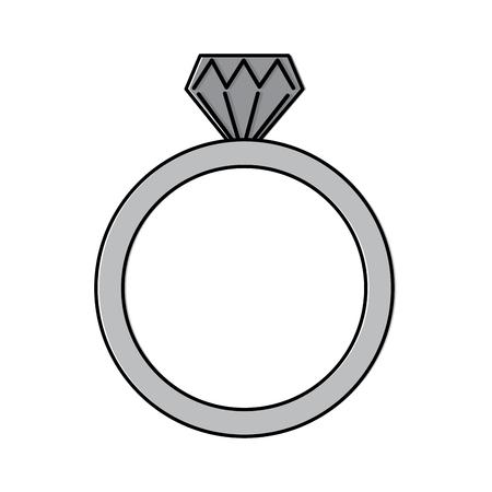 diamond engagement ring icon image vector illustration design Illustration