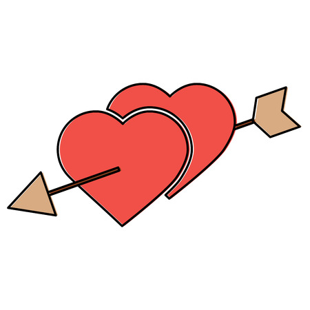 Heart and arrow Valentines day icon image vector illustration design.