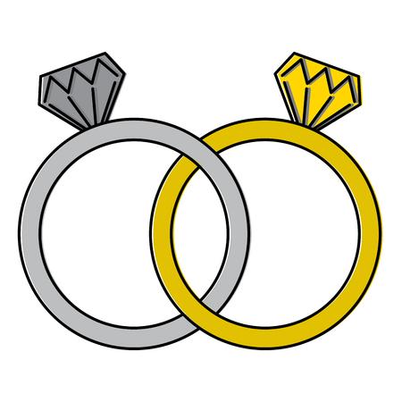 Diamond engagement rings icon image vector illustration design.