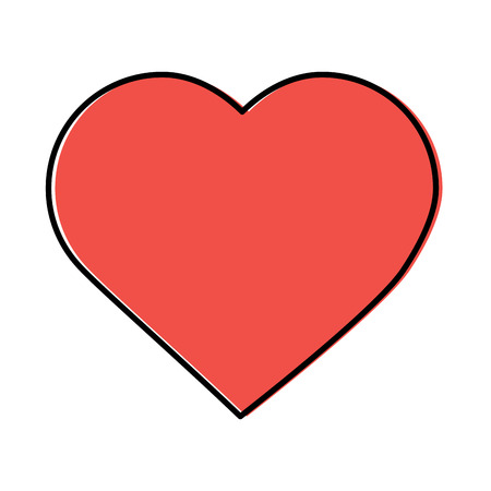heart cartoon icon image vector illustration design Illustration