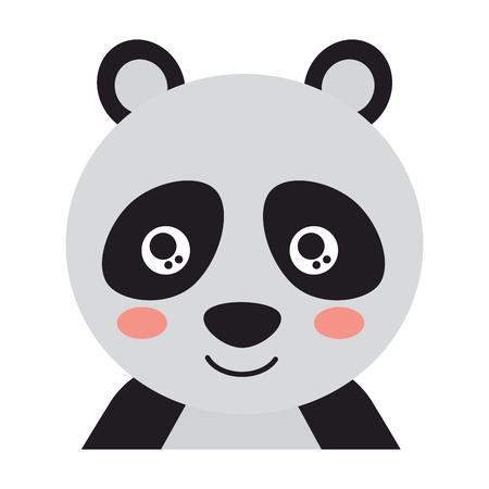 Cute panda icon image vector illustration design.