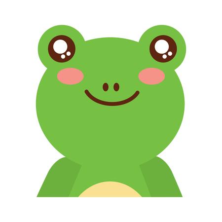 A cute portrait frog animal baby s vector illustration Stock Illustratie
