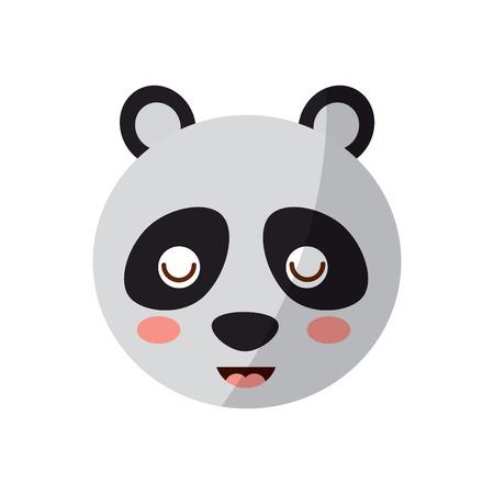 Um bonito urso panda cabeça animal perto dos olhos ilustração vetorial de desenhos animados Foto de archivo - 93443594