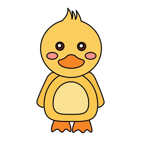 Duck cute animal icon image. Vector illustration design.