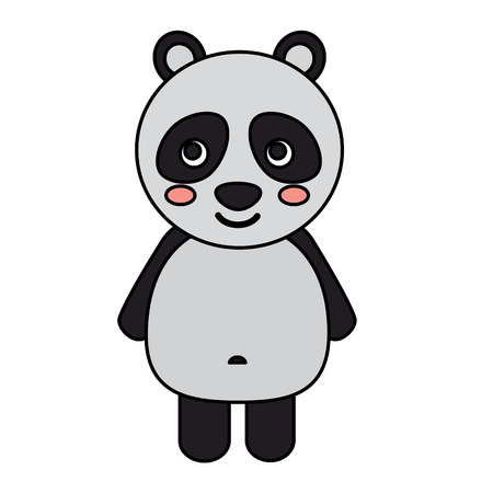 panda animal mignon icône image vector illustration design
