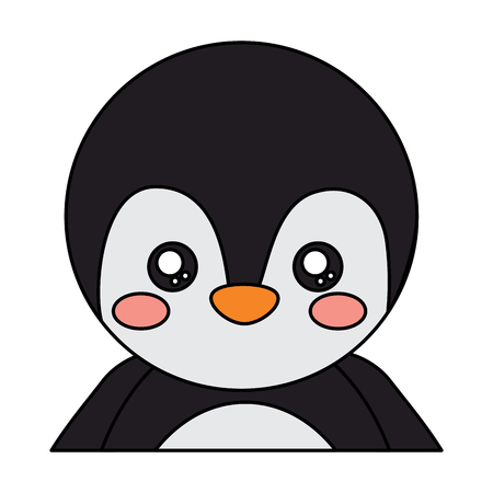 펭귄 귀여운 동물 아이콘 이미지 벡터 일러스트 디자인