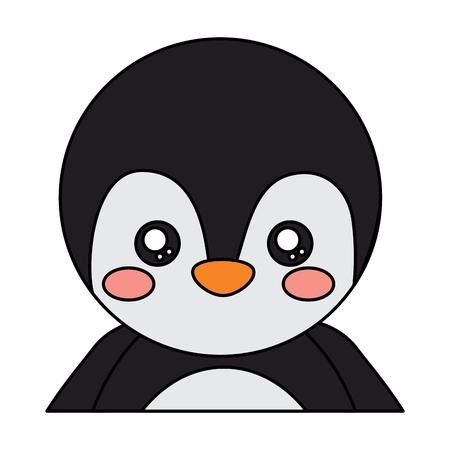 penguin cute animal icon image vector illustration design  Illustration