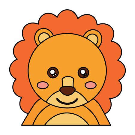 사자 귀여운 동물 아이콘 이미지 벡터 일러스트 디자인