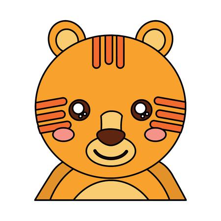tiger cute animal icon image vector illustration design