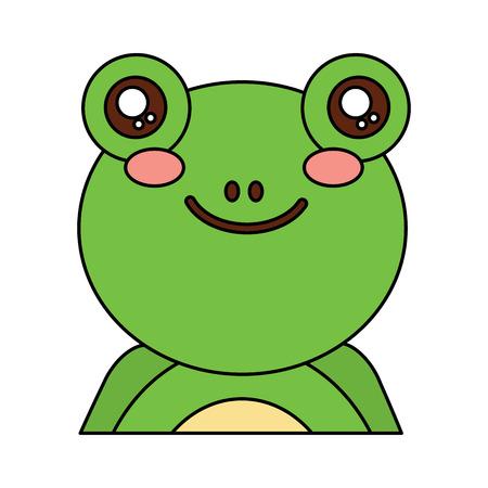 Frog cute animal icon image vector illustration design