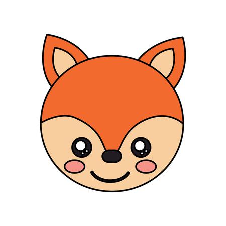 Fox cute animal icon image vector illustration design