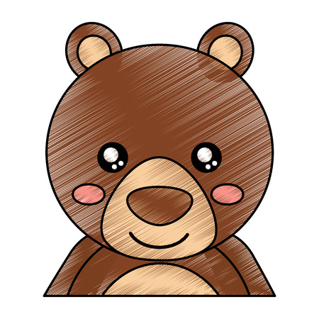 cute portrait bear animal baby vector illustration drawing design
