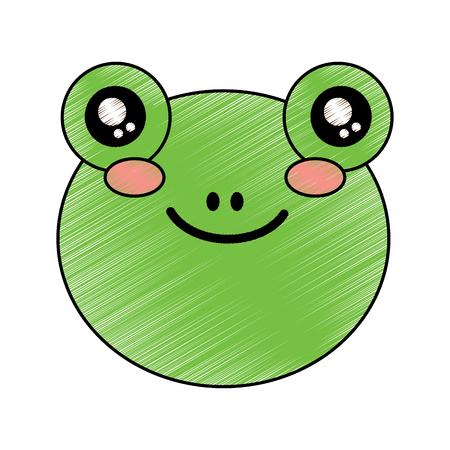 cute animal hippo head image vector illustration drawing design