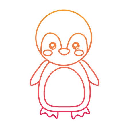 Cute animal cartoon illustration.