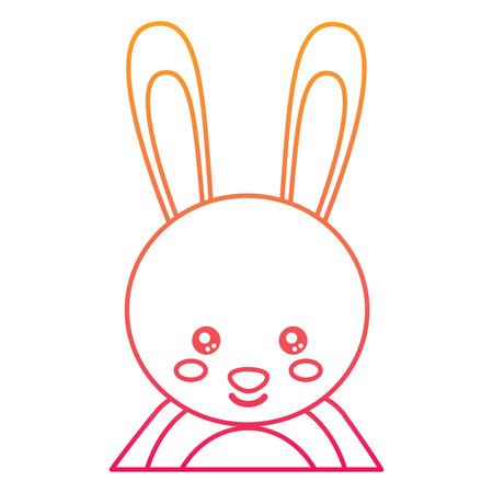 토끼 그림의 귀여운 초상화입니다.