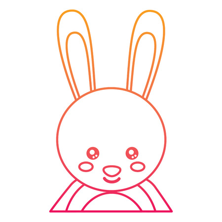 Cute portrait of a rabbit illustration.