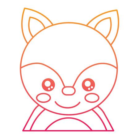 Cute portrait of a fox illustration. Illustration