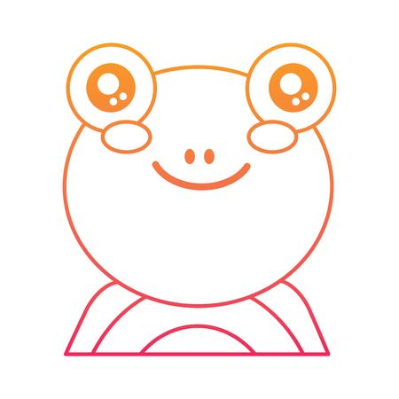 Cute portrait of a frog illustration.