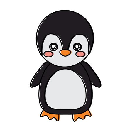 Cute animal standing cartoon wildlife vector illustration.