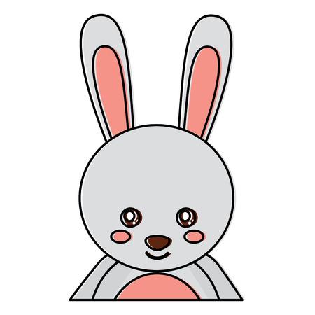 かわいい肖像画ウサギの動物の赤ちゃん。●ベクトルイラストデザイン。