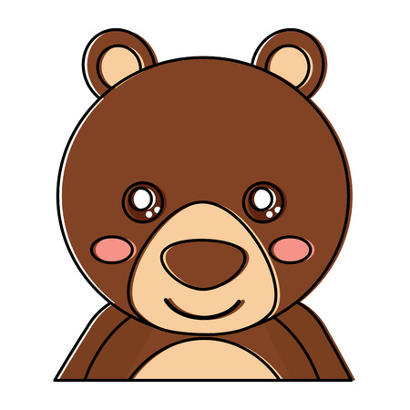 cute portrait bear animal baby vector illustration Иллюстрация
