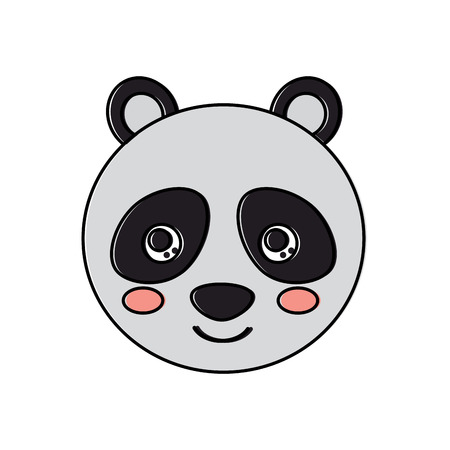 Panda icône de l & # 39 ; animal panda mignon. illustration vectorielle conception Banque d'images - 93447854