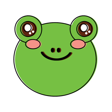 frog cute animal icon image vector illustration design  向量圖像